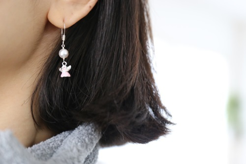 画像4: SILVER925 angel pearl pierce