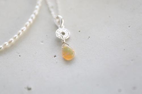 画像3: SILVER925 pearl opal set