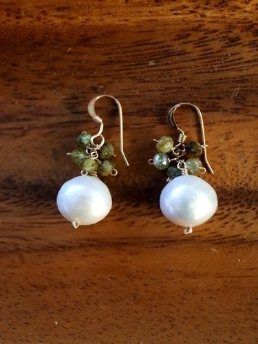 画像2: 14KGF garnet pearl pierce