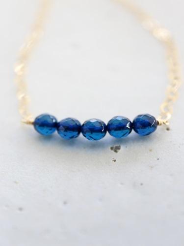 画像1: 14KGF anber sapphieblue necklace