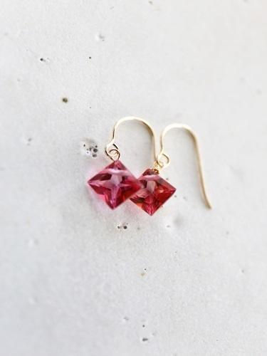 画像1: 18K pinktopaz pierce