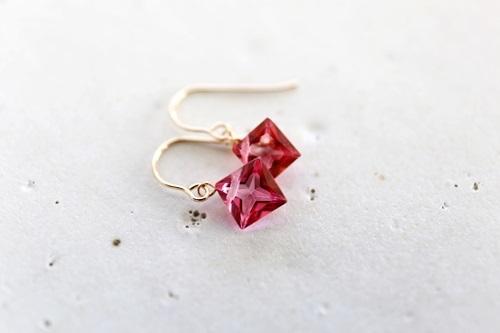 画像3: 18K pinktopaz pierce
