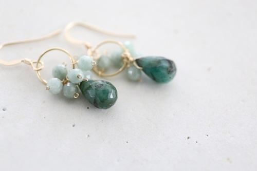 画像2: 14KGF  emerald jade  pierce