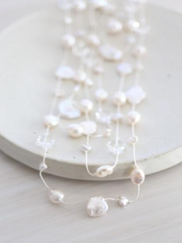 画像2: long long pearl necklace