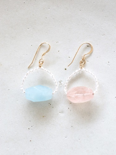 画像1: 14KGF pastel color pierce