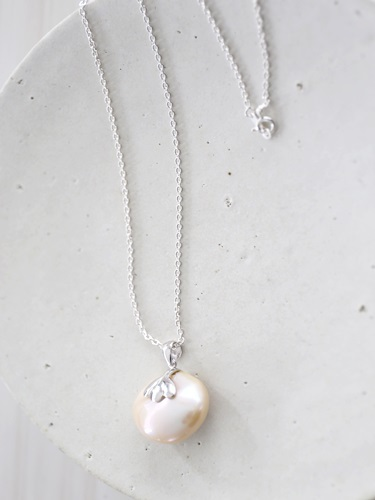 画像2: SILVER925 pearl necklace