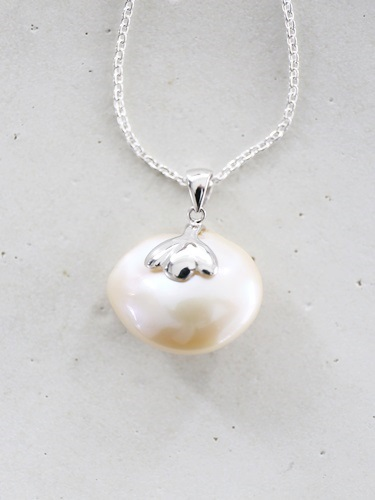 画像1: SILVER925 pearl necklace