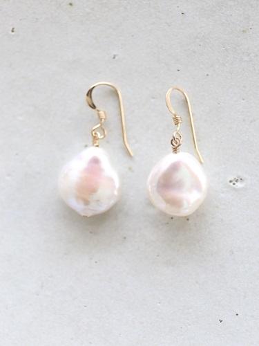 画像1: 14KGFcoin pearl pierce