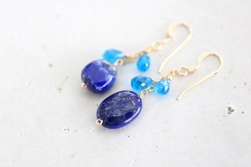 画像3: 14KGF lapis lazuli appetite pierce