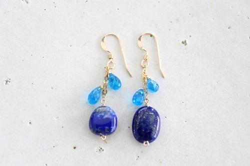 画像2: 14KGF lapis lazuli appetite pierce