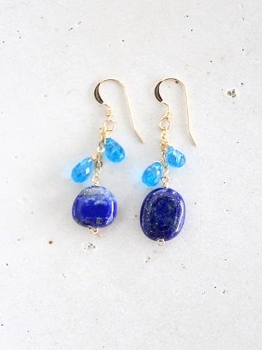 画像1: 14KGF lapis lazuli appetite pierce