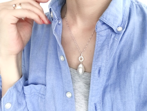 画像3: SILVER925  pearl necklace