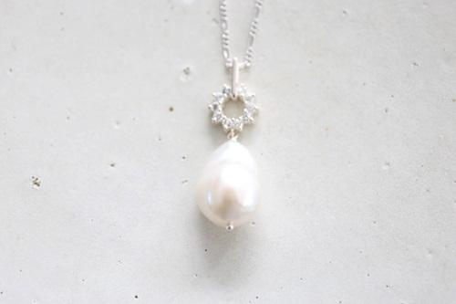 画像2: SILVER925  pearl necklace