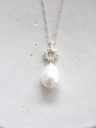 画像1: SILVER925  pearl necklace