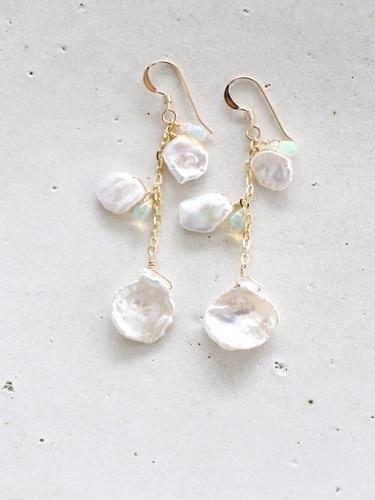 画像1: 14KGF keshi pearl pierce
