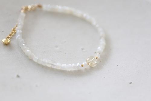 画像2: 14KGF  moonstone yellowberyl  bracelet