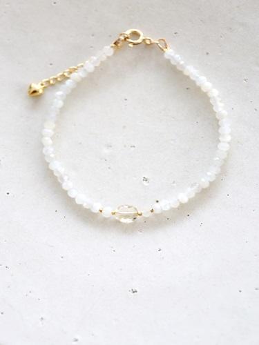画像1: 14KGF  moonstone yellowberyl  bracelet