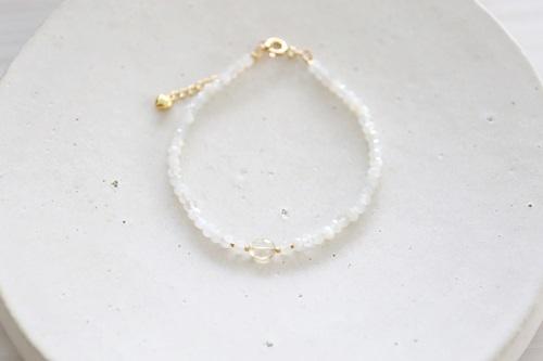 画像4: 14KGF  moonstone yellowberyl  bracelet