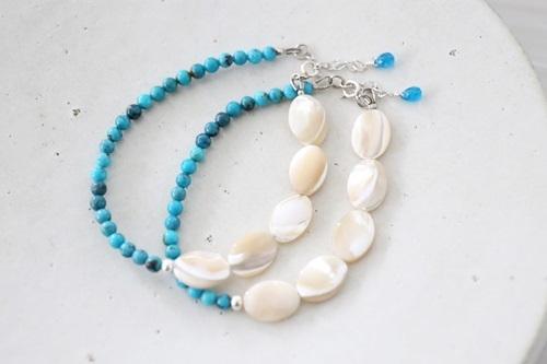 画像4: SILVER925 turquoise shell  bracelet
