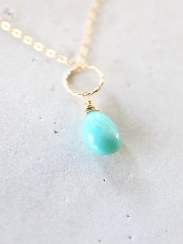 画像2: 14KGF Sleeping beautyturquoise necklace