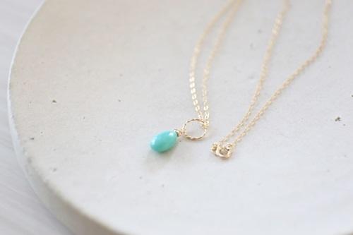 画像4: 14KGF Sleeping beautyturquoise necklace