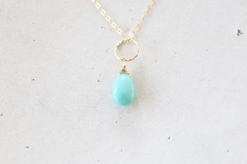 画像5: 14KGF Sleeping beautyturquoise necklace