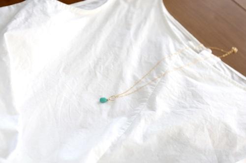 画像3: 14KGF Sleeping beautyturquoise necklace