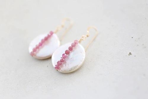 画像3: 14KGF pinktourmaline pearl pierce
