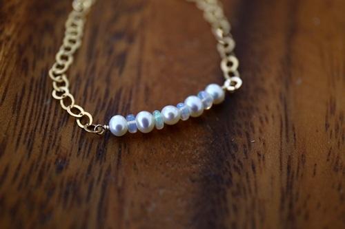 画像4: 14KGFopal pearl bracelet