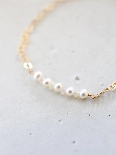 画像2: 14KGFopal pearl bracelet
