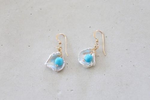 画像4: 14KGF turquoise pearl pierce