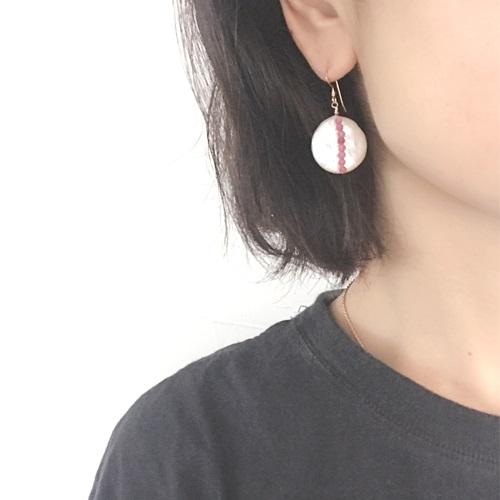 画像4: 14KGF pinktourmaline pearl pierce