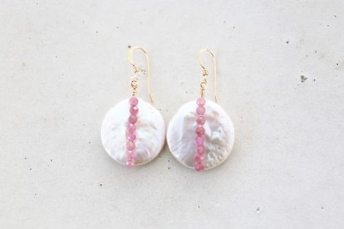 画像2: 14KGF pinktourmaline pearl pierce