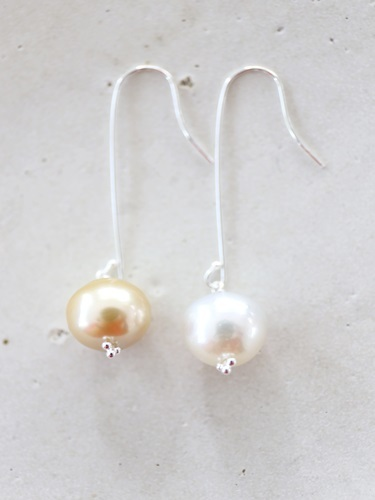 画像1: SILVER925 south sea pearl  pierce