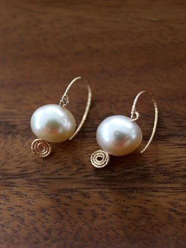 画像1: 14KGF south sea pearl  pierce