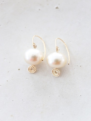 画像2: 14KGF south sea pearl  pierce