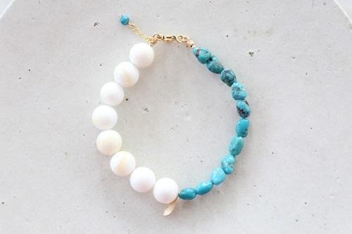 画像2: 14KGF turquoise shall bracelet