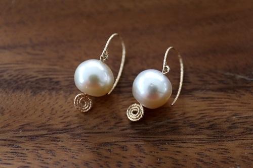 画像3: 14KGF south sea pearl  pierce