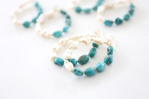 画像5: 14KGF turquoise pearl  pierce