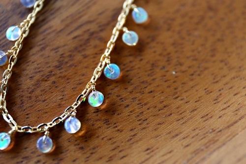 画像4: 14KGF opal necklace