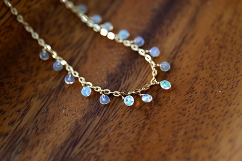 画像3: 14KGF opal necklace