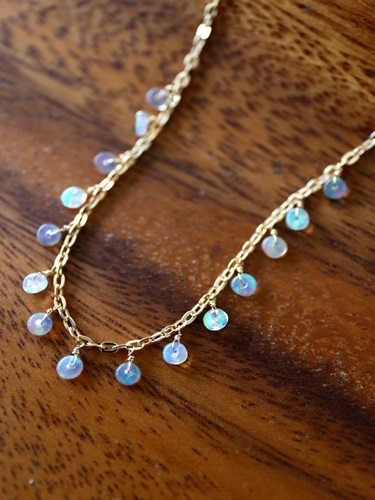 画像1: 14KGF opal necklace