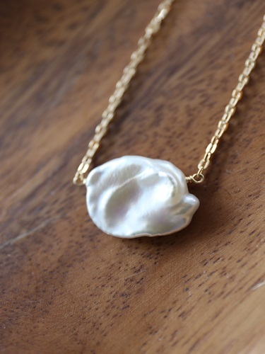 画像1: 14KGF pearl necklace