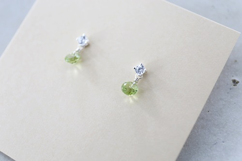 画像2: SILVER925  peridot  pierce
