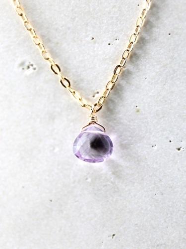 画像1: 14KGF pinkamethyst necklace