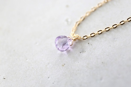 画像3: 14KGF pinkamethyst necklace