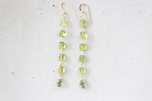 画像3: 14KGF peridot  long pierce