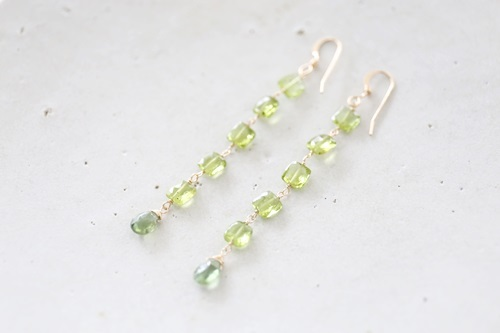 画像4: 14KGF peridot  long pierce