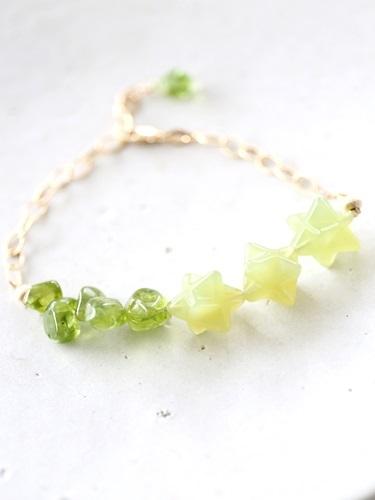 画像1: 14KGF peridot  bracelet