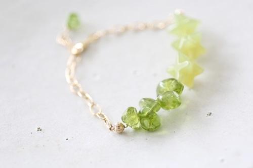 画像4: 14KGF peridot  bracelet